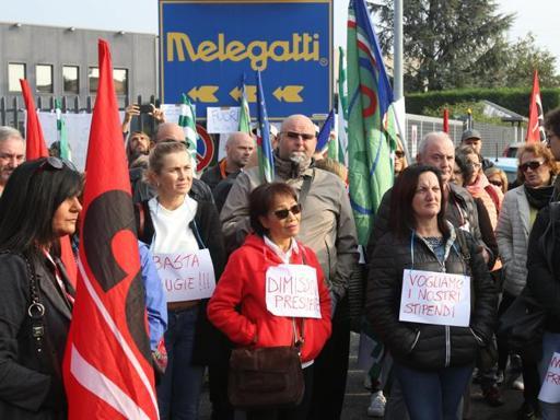 Una manifestazione di protesta dei lavoratori Melegatti