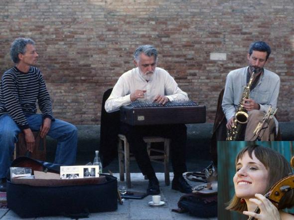 Il Trio Squelini, in basso a destra la violoncellista ungherese Ditta Rohmann (Facebook)