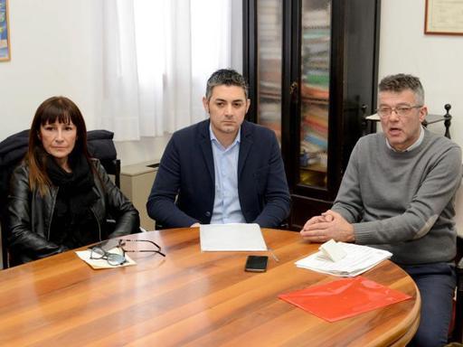 La conferenza stampa dei consiglieri che hanno fatto cadere la giunta di Adria (Biasioli)